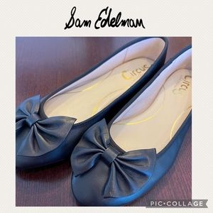 Sam Edelman black bow flats